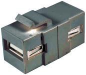 Keystone Modul USB 2.0        USB-A Bu.-Bu.         SNAP-IN