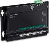 Industrie 8 Port PoE+ Gigabit Switch, Wall-Mounting, Powerbudget 200 Watt, TRENDnet TI-PG80F