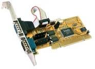 PCI-Karte, 2 x seriell RS232  mit 2x FIFO 16C950, 32-Bit