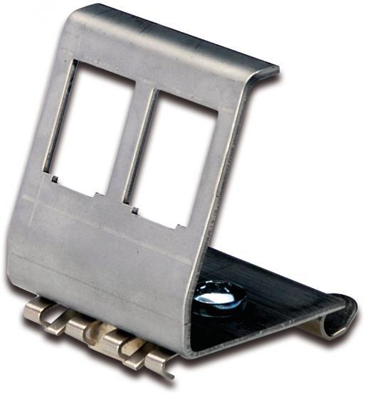 Keystone Modulträger 2-fach   für Hutschienenmontage