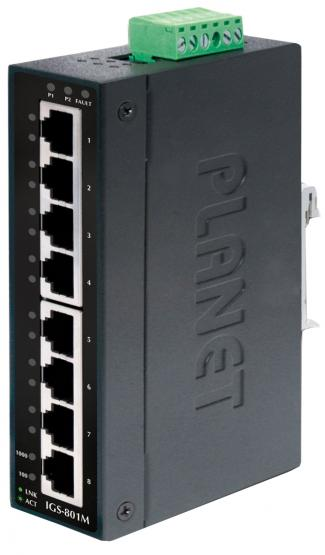 8 Port Gigabit Industrie Switch, IP30, IGS-801M