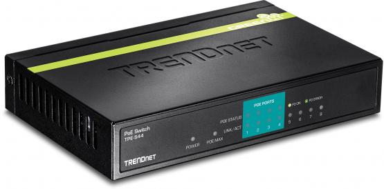 8 Port Fast Ethernet PoE Switch, Powerbudget 30 Watt, TPE-S44