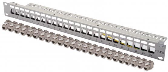 Keystone Modulträger 24 Port  für SNAP-IN Module,grau