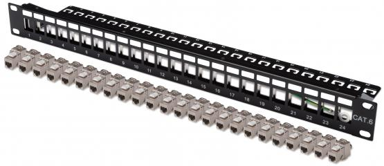 Keystone Modulträger 24 Port  für SNAP-IN Module,schwarz