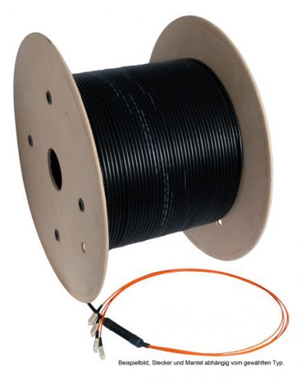 LWL-Universalkabel U-DQ(ZN)BH, innen/außen, halogenfrei 8 | 50/125 OM3 | SC / SC | 120 m