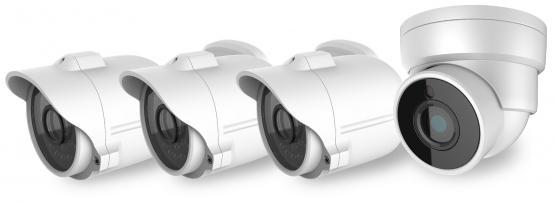 Videoüberwachungs-Komplettset, 4 x Außen Kameras Tag/Nacht