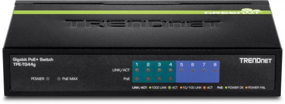 8 Port Gigabit PoE Switch, Desktop, TPE-TG44g