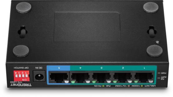 4+1 Port Gigabit PoE+ Switch, TPE-LG50, Long Range 250m, Powerbudget 32 Watt