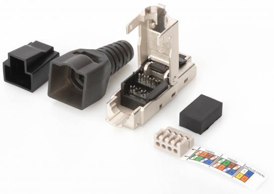 RJ45 Stecker für Feldmontage, IP20, AWG 22-26