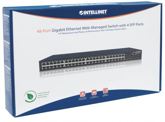 "48+4 Port SFP Gigabit Switch, Web, SNMP,19"" Rackmount"
