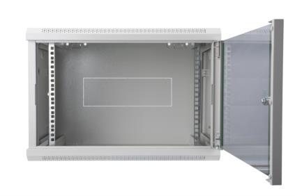 12 HE Wandgehäuse Digitus Dynamic Basic - 600x450 mm (BxT), abnehmbare Seitenteile, grau