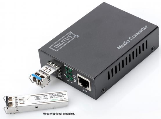 Medienconverter SFP auf Gigabit TP 10/100/1000 Mbps