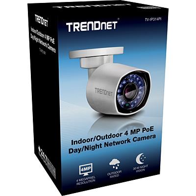 IP-Kamera PoE, Bullet, 4MP, Full HD, Day/Night, TRENDnet TV-IP314PI