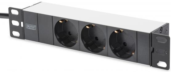 """6 HE Wandschrank 10"""" - SET - inkl. Switch, Panel, Fachboden, PDU"""