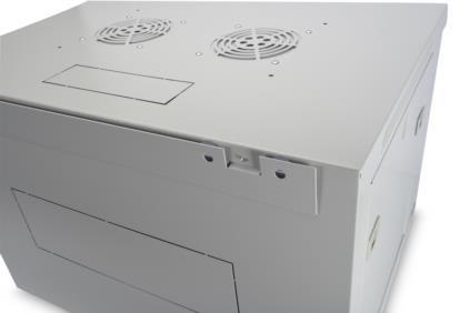 7 HE Wandgehäuse Digitus Dynamic Basic - 600x450 mm (BxT), abnehmbare Seitenteile, grau