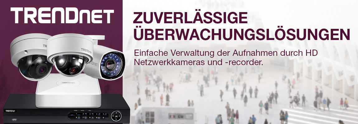 Banner TRENDnet Kameras